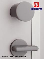 Door handle and lock. Interior
