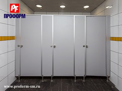 "WC cubicles for sanitary conveniences from flakeboard, serie ""PF 16 econom"" №1"