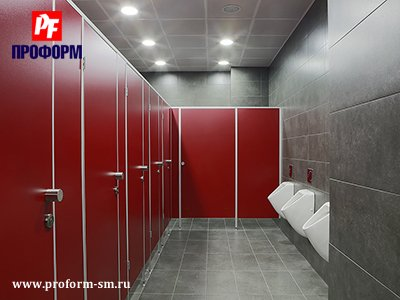 "WC cubicles for sanitary conveniences from flakeboard, serie ""PF 16 econom"" №4"