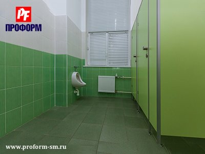 "WC cubicles for sanitary conveniences from flakeboard, serie ""PF 16 econom"" №5"