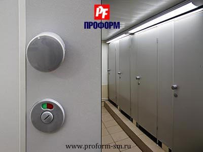"WC cubicles for sanitary conveniences from flakeboard, serie ""PF 16 econom"" №2"