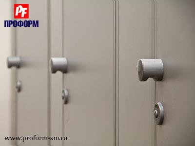 "WC cubicles for sanitary conveniences from flakeboard, serie ""PF 16 econom"" №3"