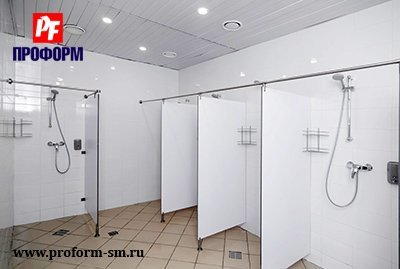 "Shower cubicles from monolith plastic, serie ""PF shower monolith"" №1"