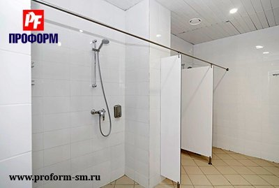 "Shower cubicles from monolith plastic, serie ""PF shower monolith"" №5"