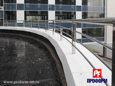 Fences from stainless steel for atriums, balconies and parapets №1
