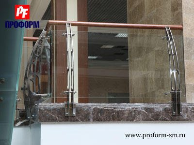 Fences from stainless steel for atriums, balconies and parapets №2
