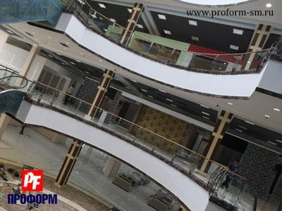 Fences from stainless steel for atriums, balconies and parapets №4