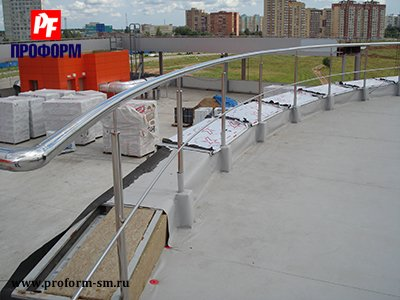 Fences from stainless steel for atriums, balconies and parapets №5