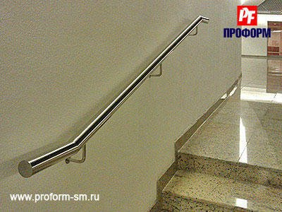 Steel handholds and banister from stainless steel №1