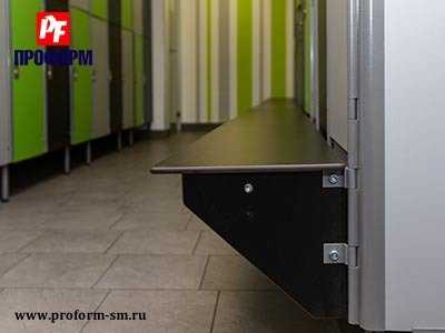 Sectional lockers from HPL for fitting rooms №5