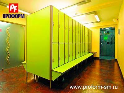 Sectional lockers from HPL for fitting rooms №1