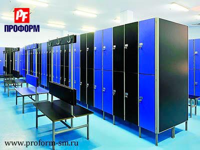 Sectional lockers from HPL for fitting rooms №2
