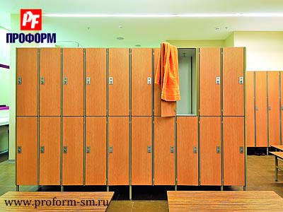 Sectional lockers from HPL for fitting rooms №3