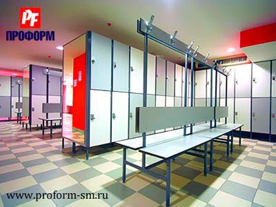 Sectional lockers from HPL for fitting rooms №4