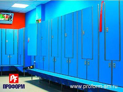 "Lockers from HPL for fitting rooms, serie ""Piano"" №1"
