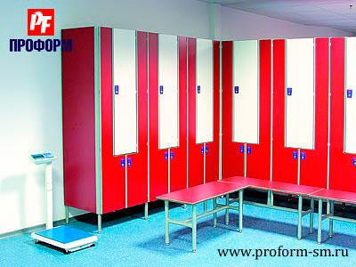 "Lockers from HPL for fitting rooms, serie ""Piano"" №3"