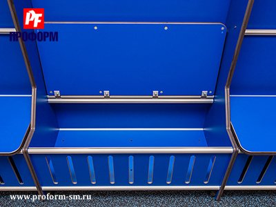 Lockers from HPL for fitting rooms for sports teams №4