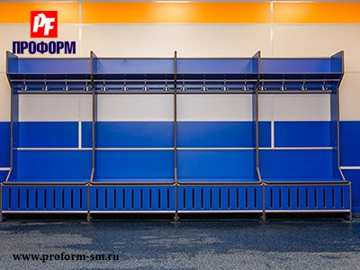 Lockers from HPL for fitting rooms for sports teams №1