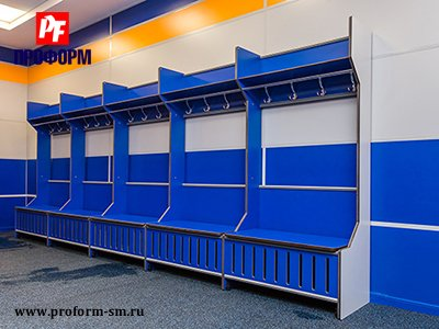 Lockers from HPL for fitting rooms for sports teams №2