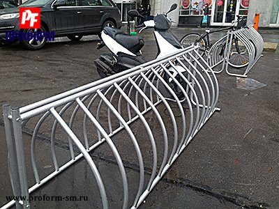 Bicycle parkings from stainless steel №1