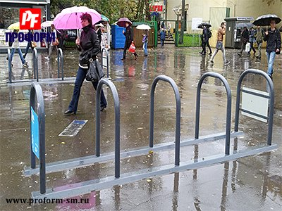 Bicycle parkings from stainless steel №2