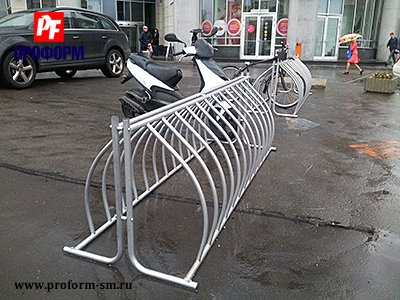 Bicycle parkings from stainless steel №4